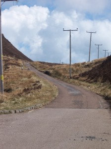 The road to the Mull of Kintyre Lighthouse