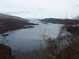 Loch Riddon and the Kyles of Bute from the Tighnabruaich viewpoint
