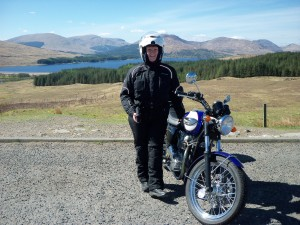 Me at the Bridge of Orchy viewpoint