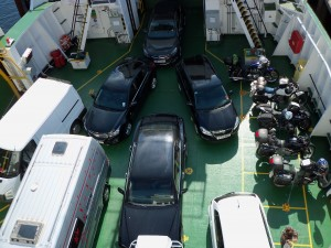 Packed ferry to Skye
