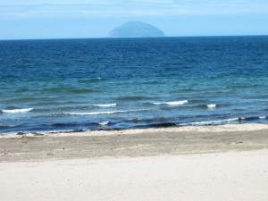 Ailsa Craig from Girvan Beach